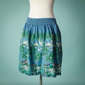 Anthro Vanessa Virginia 10 Kahakai Hawaiian Skirt